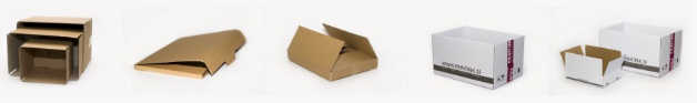 Kartons aus Wellpappe